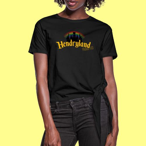 HENDRYLAND logo Merch - Women's Knotted T-Shirt
