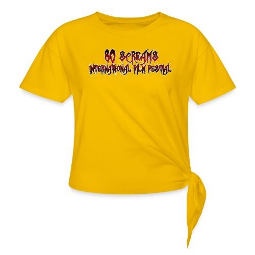 80 Screams International Film Festival - Women's Knotted T-Shirt