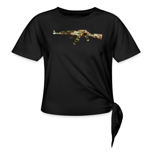 AK-47.png - Women's Knotted T-Shirt