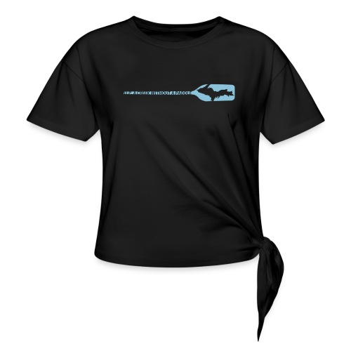 U.P. a Creek - Women's Knotted T-Shirt