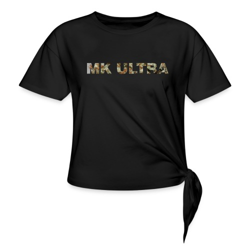 MK ULTRA.png - Women's Knotted T-Shirt