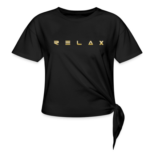 Relax gold - Women's Knotted T-Shirt