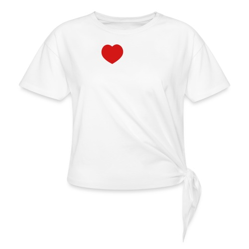 I Love my Siberian Husky - Women's Knotted T-Shirt