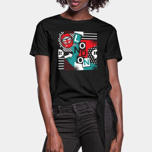 london pop art - Women's Knotted T-Shirt