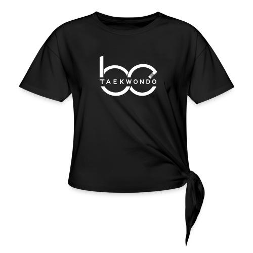 Logo emblem WHITE no bg - Women's Knotted T-Shirt