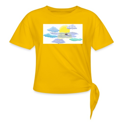 Sea of Clouds - Women's Knotted T-Shirt