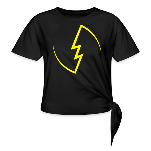 Electric Spark - Women's Knotted T-Shirt