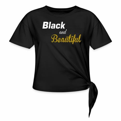 Black & Beautiful Long Sleeve Shirt - Women's Knotted T-Shirt