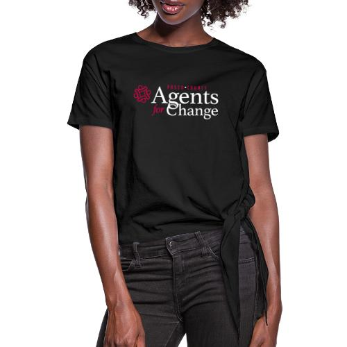 pascoagentsforchange logo - Women's Knotted T-Shirt