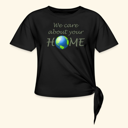 Happy Earth day - Women's Knotted T-Shirt