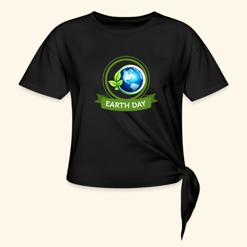 Happy Earth day - 3 - Women's Knotted T-Shirt