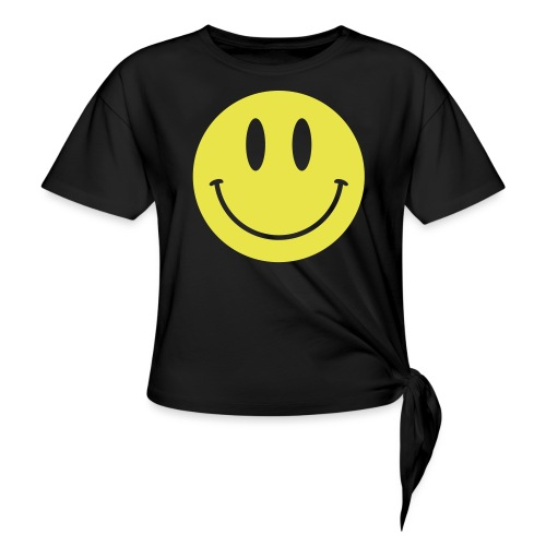 Smiley - Women's Knotted T-Shirt