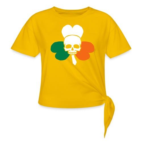 irish_skull_shamrock - Women's Knotted T-Shirt