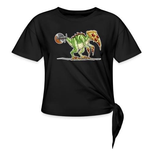 pizzasaurus - Women's Knotted T-Shirt