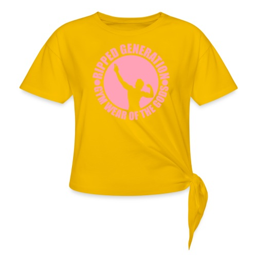 Ripped Generation Gym Wear of the Gods Badge Logo - Women's Knotted T-Shirt