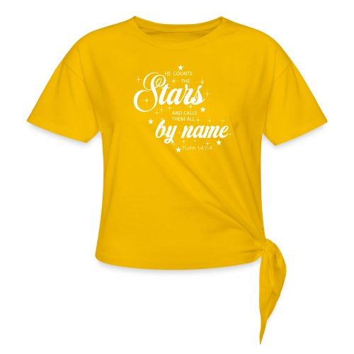 Psalm 147:4 - Women's Knotted T-Shirt