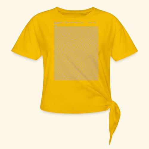 10 PRINT CHR$(205.5 RND(1)); : GOTO 10 - Women's Knotted T-Shirt