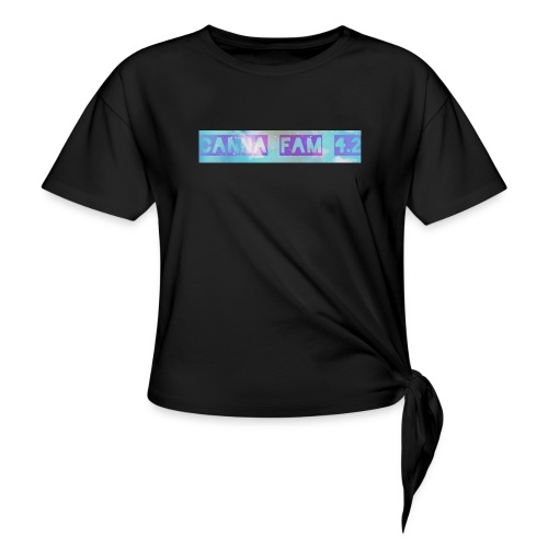 Canna fams #3 design - Women's Knotted T-Shirt