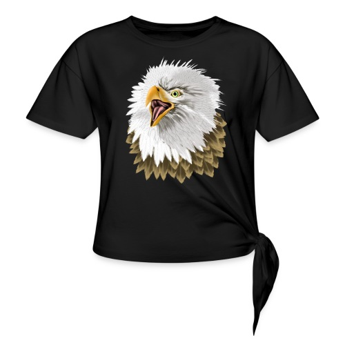 Big, Bold Eagle - Women's Knotted T-Shirt