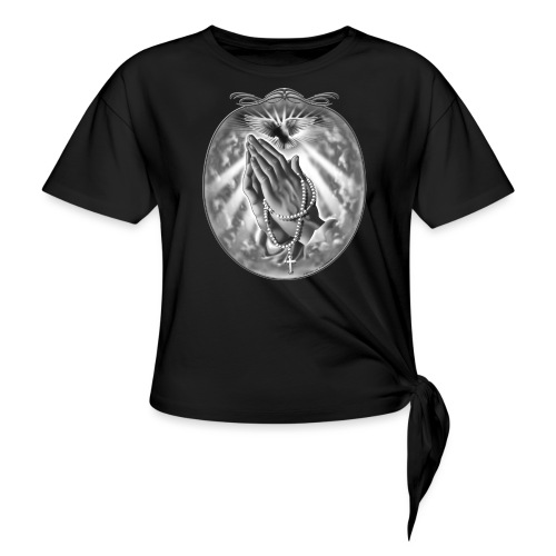 Praying Hands by RollinLow - Women's Knotted T-Shirt