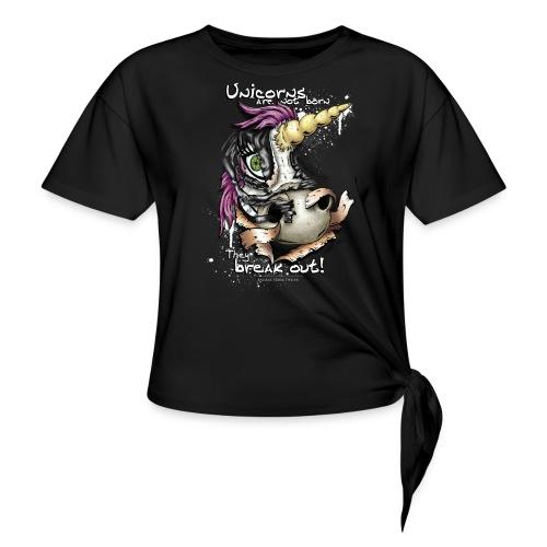 unicorn breakout - Women's Knotted T-Shirt