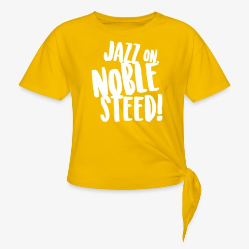 MSS Jazz on Noble Steed - Women's Knotted T-Shirt