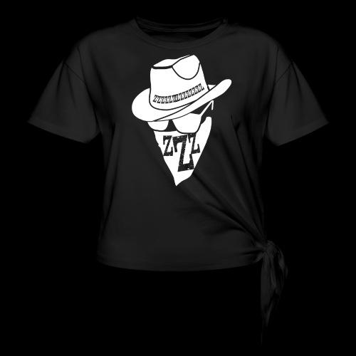 DREAM BANDITS WHITE Large Logo - Women's Knotted T-Shirt