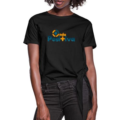 Logo a color - Women's Knotted T-Shirt