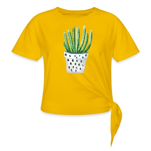 Cactus - Women's Knotted T-Shirt