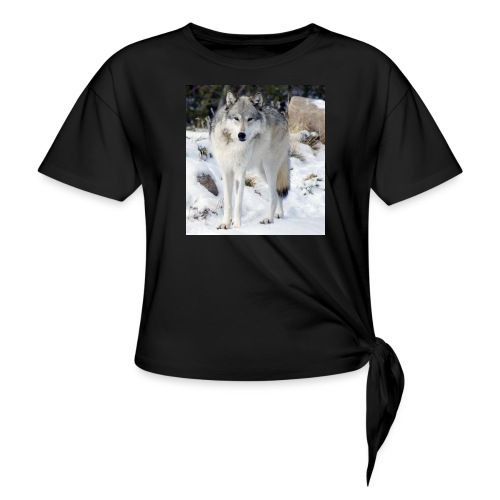 Canis lupus occidentalis - Women's Knotted T-Shirt