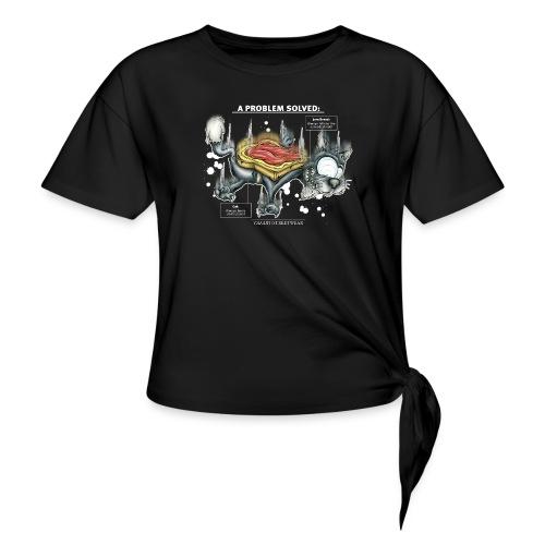 Der Problemlöser_E - Women's Knotted T-Shirt