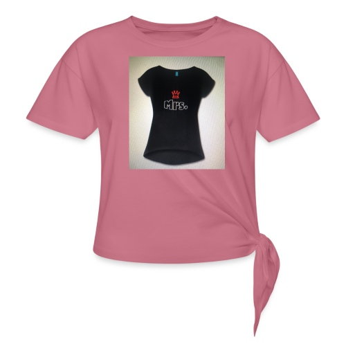 Mrs and Mr t-shirt - Women's Knotted T-Shirt