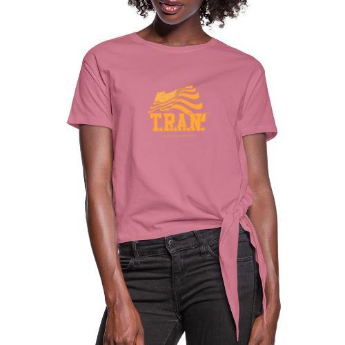 TRAN Gold Club - Women's Knotted T-Shirt