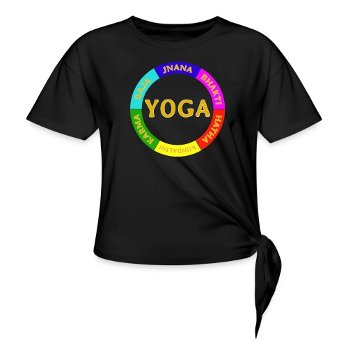 6 ways of Yoga - Women's Knotted T-Shirt