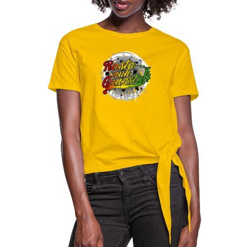 Rasta nuh Gangsta - Women's Knotted T-Shirt