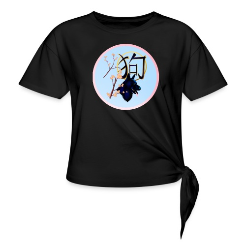 The Year Of The Dog-round - Women's Knotted T-Shirt