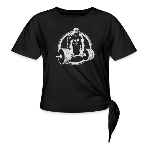 Gorilla Lifting Gym Fit - Women's Knotted T-Shirt