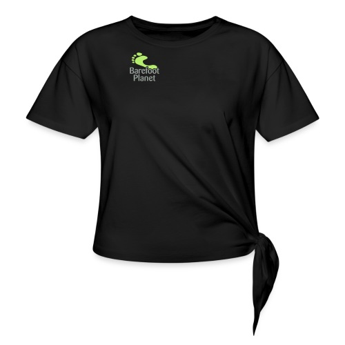 I Run Better, I Run Barefoot Women's T-Shirts - Women's Knotted T-Shirt