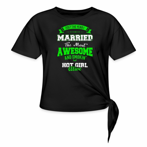Married Husband - Women's Knotted T-Shirt