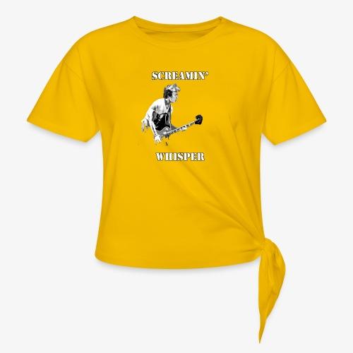 Screamin' Whisper Filth Design - Women's Knotted T-Shirt