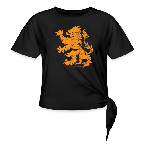 Dutch Lion - Women's Knotted T-Shirt