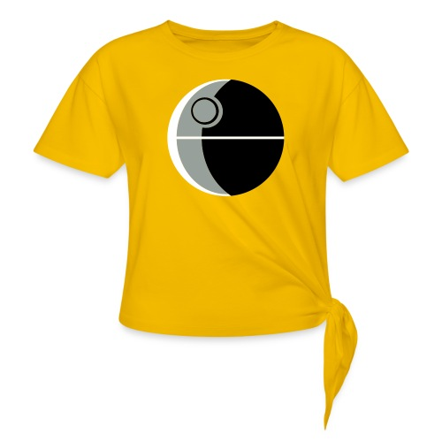 This Is Not A Moon - Women's Knotted T-Shirt