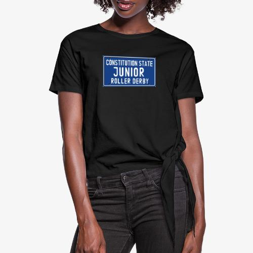 Constitution State Junior Roller Derby - Women's Knotted T-Shirt