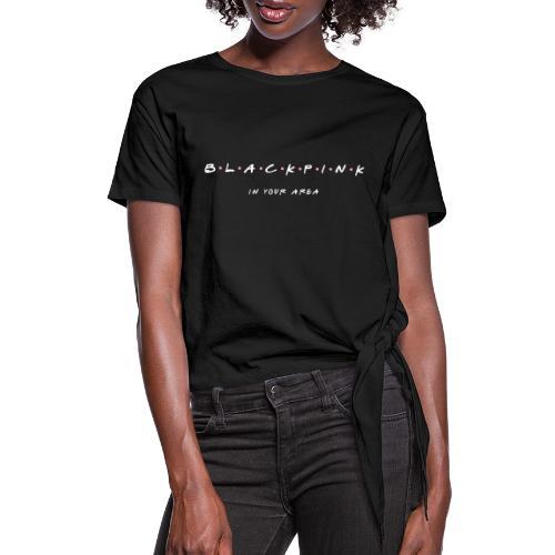 Black Pink Friends - Women's Knotted T-Shirt