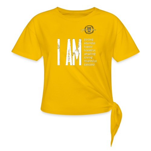 I AM ... Feminine and Fierce - Women's Knotted T-Shirt