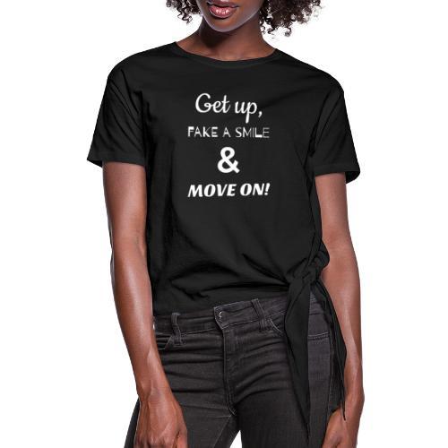 MOVE ON LYRICS FULL SIZE - Women's Knotted T-Shirt