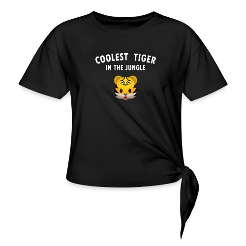 Coolest Tiger Hoodie - Women's Knotted T-Shirt