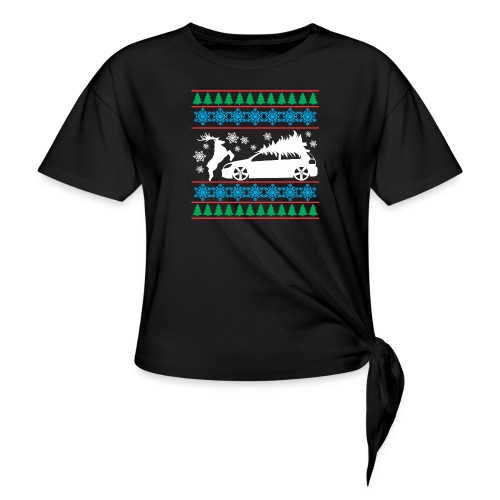 MK6 GTI Ugly Christmas Sweater - Women's Knotted T-Shirt