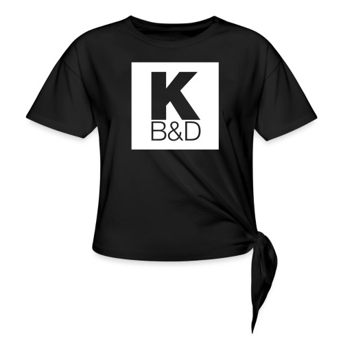 KBD_White - Women's Knotted T-Shirt