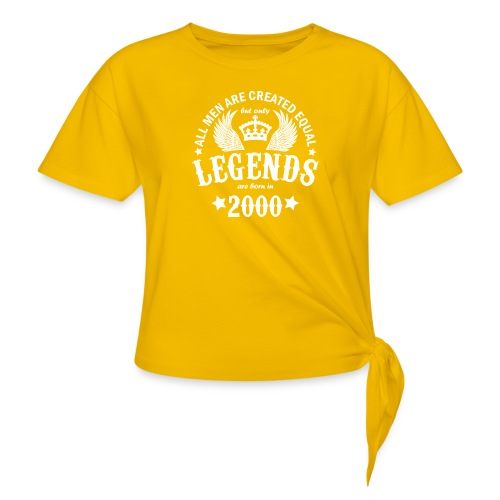 Legends are Born in 2000 - Women's Knotted T-Shirt